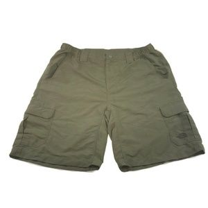 The North Face Hiking Shorts L Camo Green